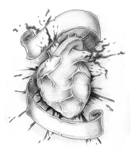 Cool Heart Tattoo Design